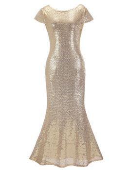 All that Glitters Evening Dress - Gold